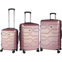 1fe129b948 RCM 8060 Expandable Σετ 3τμχ 55cm + 65cm + 75cm Pink-Gold