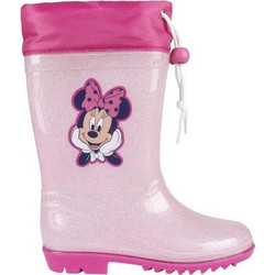bacb5963334 Disney Παιδικές Μπότες Γαλότσες με θέμα Minnie Mouse σε Ροζ χρώμα σε  Νούμερο 28 - Disney