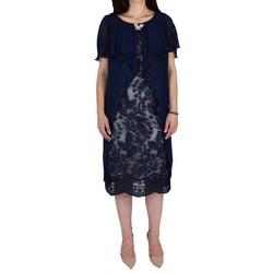 708b9c277f76 Φόρεμα Από Δαντέλα Με Μουσελίνα Vagias 8719-114 Μπλε vagias 8719-114 mple