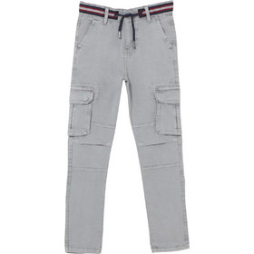 420d693f226 OVS παιδικό παντελόνι cargo μονόχρωμο - 000398517 - Γκρι