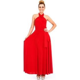 f759b1a8d54f Κόκκινο Maxi Πολυμορφικό Φόρεμα Κόκκινο Silia D