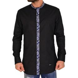 Ανδρικό πουκάμισο με μάο γιακά Ben Tailor μαύρο 25799 e01cc328402