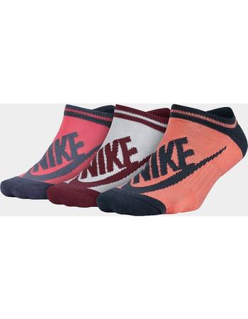 Women s Nike Sportswear Striped No-Show Socks SX6064-905 7aabd4242b1