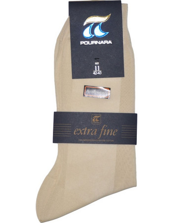 ΠΟΥΡΝΑΡΑ Πουρνάρα Ανδρικές Κάλτσες Βαμβακερές Αντιιδρωτικές Εκρού 57213dffd8d