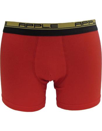 Apple Ανδρικό Boxer ColorMania Κόκκινη Βάση Εξωτερικό Λάστιχο Διπλή Ρίγα  Κόκκινο c2435012dbc