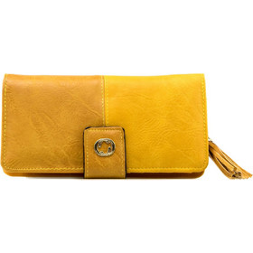 33dd823434 Κίτρινο Πορτοφόλι με Κρόσσια Κίτρινο Silia D