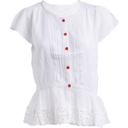 fc0c50069a53 Πουκάμισο Λευκό Με Κόκκινα Κουμπιά (100% Viscose)
