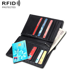 f4f5ef9817 Antimagnetic RFID Men Multi-functional Wallet.