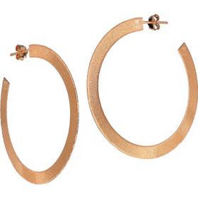 Χειροποίητα ασημένια 925 σκουλαρίκια κρίκοι με ρόζ χρύσωμα Κ18 SK-1392R1 b8d337fd407