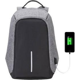 8d4a1a5fbe Αντικλεπτικό Σακίδιο Πλάτης με Θύρα Φόρτισης USB Χρώματος Γκρι Hoppline  HOP1000827-2