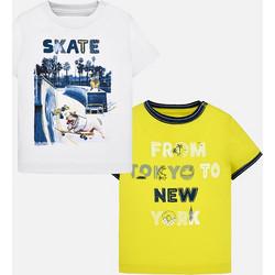 73a167122e14 Mayoral Σετ μπλούζες κοντομάνικες στάμπα baby αγόρι Χρώμα Μπανάνα