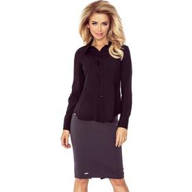f277a6e9c846 70135 NU Μεσάτο γυναικείο πουκάμισο - Μαύρο
