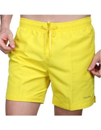 Calvin Klein Ανδρικό Μαγιό Βερμούδα Medium Drawstring Κίτρινο 2bad5c54daa