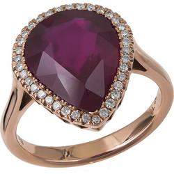 Ροζ gold δαχτυλίδι με ρουμπίνι 5 cc091eae062
