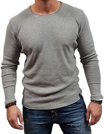 55efcd7f7986 Brokers - 18512-832-10 - Grey - Μπλούζες Πλεκτά