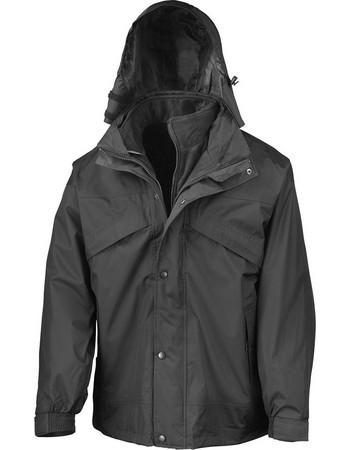 Μπουφάν 3 σε 1 με Fleece Result R068X - Black 99f3bc21017