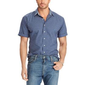 ec41f06545b4 POLO RALPH LAUREN Slim Fit Short Sleeve Shirt - Duke Blue Red Multy -  710672879002