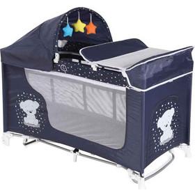 Lorelli Beroni Moonlight 2 Layers Rocker Dark Blue Teddy Bear eb9233f268f