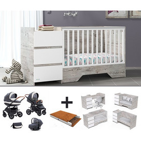 3bc52bbb08d Casababy combo deal με βρεφικό καρότσι 3 σε 1, στρώμα και προίκα 3 τεμ