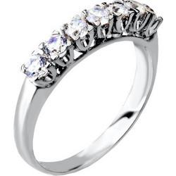 Λευκόχρυσο σειρέ δαχτυλίδι Κ14 με ζιργκόν DS083A 47076c40f32