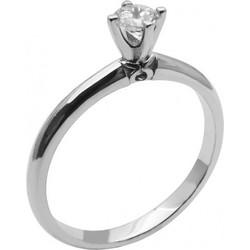 Λευκόχρυσο μονόπετρο δαχτυλίδι με ζιργκόν 14καρατίων 74L22LAV fa7f5244947