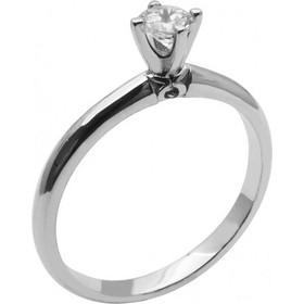 Λευκόχρυσο μονόπετρο δαχτυλίδι με ζιργκόν 14καρατίων 74L22LAV 691050be600