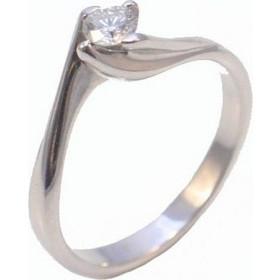 Δαχτυλίδι λευκόχρυσο μονόπετρο για αρραβώνα ή γάμο K18WS35 01c4f560793