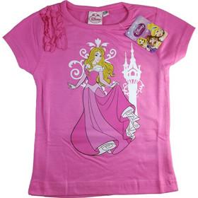 4e9c697581d Disney 32127 Παιδικό Κοριτσίστικο Κοντομάνικο Μπλουζάκι Princess με  Λαιμόκοψη σε Ροζ χρώμα - Disney