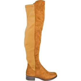bfd01dbf20c Γυναικείες κάμελ σουέντ μπότες Over Knee χαμηλές JS112