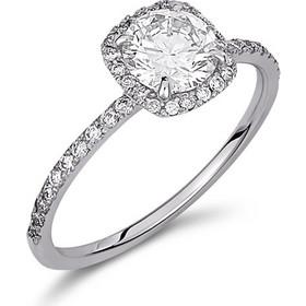 Μονόπετρο δαχτυλίδι σε halo γραμμή απο λευκό χρυσό 18 καρατίων με κεντρικό  διαμάντι 0.80ct πιστοποιημένο 67a50239060