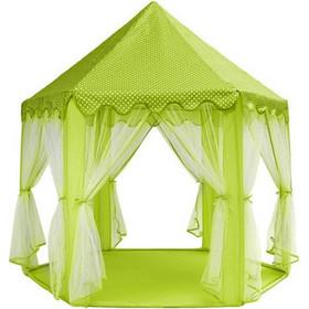 dbd8b6cc8ce1 Στρογγυλή Παιδική σκηνή σε σχέδιο Κάστρο Πριγκίπισσας, σε πράσινο χρώμα με  διακοσμητικές κουρτίνες, διαστάσεων