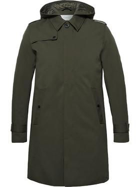 2b5f46c700 ...παλτό καμπαρντίνα με κουκούλα - 029EE2G007 - Χακί