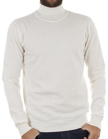 0710183f1f7f Ανδρικό Ζιβάγκο Πλεκτή Μπλούζα Garage55 GAM204-09218 Λευκό