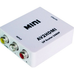 Mini Μετατροπέας 3RCA Audio Video AV to HDMI Converter Switch Box S