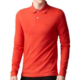 5564708e152d Burberry Ανδρική Πόλο Polo Μπλούζα Brit με μακρύ Μανίκι και κουμπιά σε  Κόκκινο χρώμα, Bright