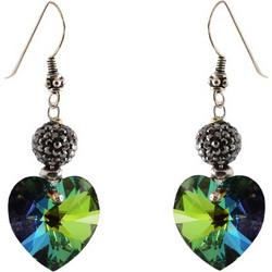 Jt Ασημένια σκουλαρίκια καρδιά Swarovski 6d422742e6b