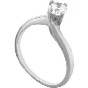 Μονόπετρο δαχτυλίδι από ασήμι με πέτρα ζιργκόν από ασήμι 653ff2e5394
