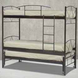 28253a15e5a Μεταλλικό κρεβάτι κουκέτα συρόμενη Ανδρος Για 2 Στρώματα 90x200 και 1  Στρώμα 90x190 (Για στρώμα