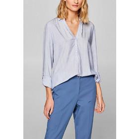 7ab08f982bec Esprit γυναικείο ριγέ πουκάμισο με πατιλέτα 3 4 - 999EE1F802 - Γαλάζιο