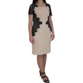 3e29abcbbd16 Φόρεμα Με Δαντέλα Vagias 9666-52 Μπεζ vagias 9666-52 mpez