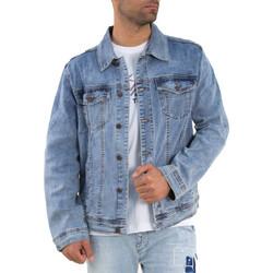 112678b857a1 Ανδρικό μπλε ξεβαμμένο τζιν μπουφάν με τσεπάκια G101