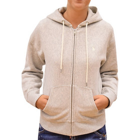 8547706ae859 POLO RALPH LAUREN WOMAN HOODIE LONG-SLEEVE KNIT GREY HEATHER