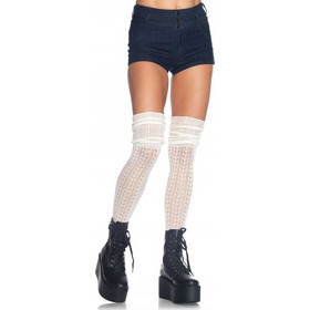 f4cb252bf0b6 Over The Knee Scrunch Sock Ivory