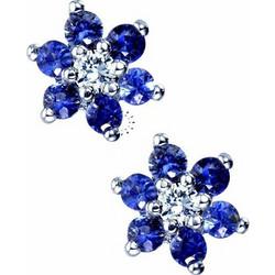 Σκουλαρίκια 18κ Με Ζαφείρια Και Διαμάντια Muse Collection 0c1c71d2665