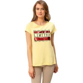 5d8b44b0b233 T-shirt με παγιέτες και στάμπα - Κίτρινο