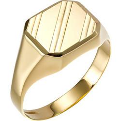 Ανδρικό δαχτυλίδι από χρυσό 14 καρατίων με λουστρέ φινίρισμα. OIK22399 e60ce257cd3