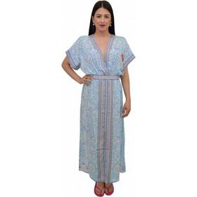 bc9cc04f70aa Φόρεμα μακρύ λαχούρι Ble 5-41-375-0157 - γαλαζιο