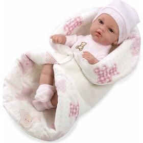Munecas Arias Natal Elegance με Υπνόσακο Λευκό   Ροζ 33cm 24037ef9bb4