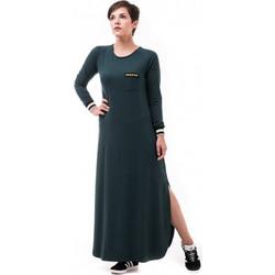 b2ef71a009d0 Πράσινο Μακρύ Φόρεμα με Αστέρια Χρυσά