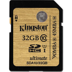 Kingston 32GB SDHC Ultimate UHS-I Class 10
